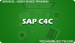 SAP C4C  SAP Video Based Training SAP C4C