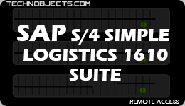 SAP S/4 Simple Logistics 1610 Suite sap ides remote access SAP IDES Remote Access SAP S4 Simple Logistics 1610 Suite
